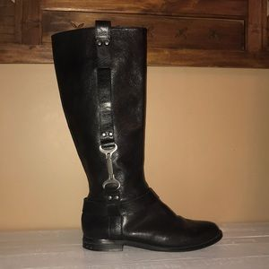 ⭐️ Nine West Black Leather Boots ⭐️